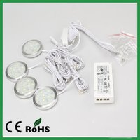 Wholesale Led Driver G4 - LED Cabinet Light 9pcs of SMD5050 DC12v 120lm 2.2w Round Thin Furniture Downlight With Power Driver