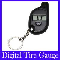 Wholesale Porsche Keychain - Free Shipping Mini Digital tire gauge Car Auto LCD Tyre Tire Pressure Gauge Keychain VT708 MOQ=1
