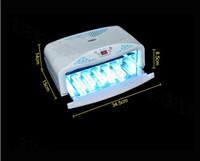 Wholesale Uv Nail Lamp Fan - Wholesale-54W UV Lamp Timer Nail Dryer Art Fan Gel Curing 2 Hand Light 220V only