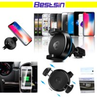 Wholesale Iphone Dock Support - Bestsin Car mount with Car Wireless Charger for phone support Qi wireless charge for Iphone X Samsung S8 Free DHL Shipping