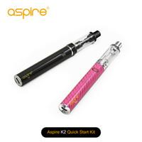 Wholesale vaporizer pen aspire resale online - Authentic Aspire K2 Quick Starter Kit ml K2 Tank mah Aspire Vape Pen Vaporizer E Ciggarette Start Kit TPD