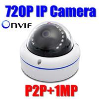Wholesale Mini Ip Webcam - ONVIF FULL HD 720P Mini IP Camera Outdoor 1.0 Megapixel dome IR Nightvision webcam security camera