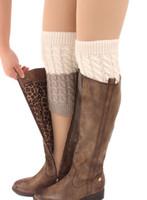 manguito de malha de croché venda por atacado-Inverno Polainas para As Mulheres Moda Polainas Boot Cuffs Mulheres mulher polainas aquecedores de botas para meninas meninas senhora Crochet Malha meias de inicialização