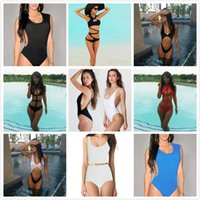 Wholesale Cheap Vintage One Piece Swimsuits - 2015 Vintage One Pieces Swimsuits For Women,Pin Up Female 7 Style 11 Colors Cheap One-Pieces Swimwear