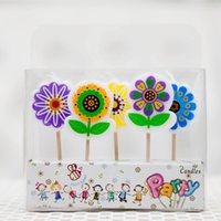 Wholesale Wholesale Decorative Flower Candles - Romantic Color Art Candles MINI Flower Number Letters Cake Candle Decoration Kids Birthday Gift Online SD936