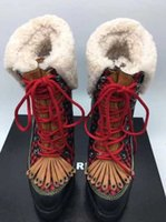 Wholesale Taiwan Winter Fashion - 2018 new winter woman 12CM High heel boots Lace-Up 2.5CM Waterproof Taiwan Tassel chunky heel Ankle Boots free shipping ZE77