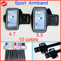 Bande de bras de sport DHL gratuite pour iphone 6 plus WaterProof Gym Running Armband Soft Pouch Case 4.7 / 5.5 pouces pour iphone6 ​​5 / 5C / 5S Galaxy S3 S4 S5