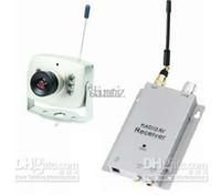 receptor para rc venda por atacado-Sem fio micro CCTV segurança mini pinhole A / V de áudio de vigilância RC Camera receiver 1.2 ghz kit