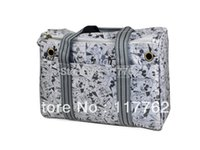 Gros-Free Shiping gris jacquard polyester avec sangles de coton Chiens Pet Carrier Bag Dogs Fashion Bag