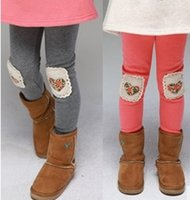 Wholesale Kids Girls Grey Tights - Winter Style Girl Legging Warmer Pants Snow Weather Wear Kid Tight Waistband Design Two Colors Grey Pink Mixture Five Sizes Good Workmanship