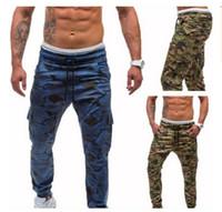 ingrosso pantaloni americani harem pant-2018 New Style Pantaloni casual da uomo, pantaloni mimetici stile europeo ed americano, stile hip hop fitness