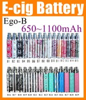 Wholesale E Cig B - EGO b Ego-b Luxury various styles Electronic Cigarette EGO Battery e cig e-cig eGo Battery Colorful 650mah 900mAh 1100mAh vivi nova DC007