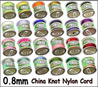 Wholesale Nylon Chinese Knotting Thread - Wholesale AA++ Quality!!! 135yards x 0.8mm Nylon Chinese Knot Cord Rattail Satin Jewelry Beading Thread