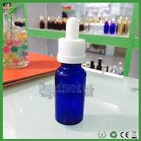 Wholesale Empty Dropper Bottles Glass Clear - 800pcs Fedex Free Blue Glass Dropper Bottles 30ml With Black Childproof Cap E Liquid Bottles Glass Ejuice Bottle Empty