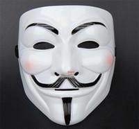 ingrosso decorazioni di pallacanestro di valentine-100pcs 2015 nuove maschere di travestimento della maschera di v per la vendetta anonima sfera di San Valentino decorazione del partito pieno faccia halloween super spaventoso ragazzo d169