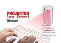 виртуальная клавиатура bluetooth для iphone оптовых-2015 новые продукты беспроводная связь Bluetooth виртуальная лазерная проекция клавиатуры для iPad через USB для планшетных ПК смартфон iPhone iOS и Andriod системы