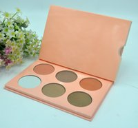 Wholesale Wholesale Quality Chocolate - Highest Quality! HOT Makeup Bronzers & Highlighters Powder Foundation Palette 6 color High-quality DHL Free shipping+GIFT.