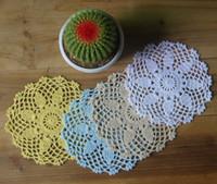 handgefertigte häkeltücher groihandel-handgemachte gehäkelte Deckchen, Spitze häkeln Deckchen Tasse Matte Vase Matte Coaster 15x15cm / 6