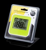 Wholesale Temperature Display Meters - Indoor temperature & humidity Meter Digital Thermometer Hygrometer Moisture Meter LCD Display DC205 in retail box 100pcs