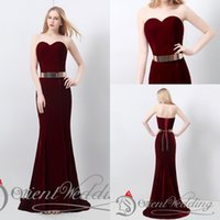 Wholesale Cocktail Long Dress For Bridesmaid - Designer Occasion Dresses Evening Formal Floor Length Fashion Sweetheart Prom Cheap Real Image Unique Stylish Mermaid In Stock For Sale