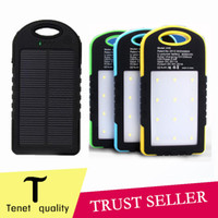 Wholesale Dual Lamp - Universal 8000mAh Solar Charger Waterproof Solar Panel Battery Chargers for Dual USB LED Camping lamp 50PCS