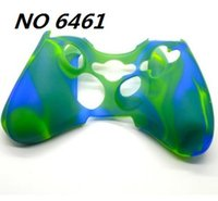 Wholesale free xbox covers - Wholesale price Camouflage Silicone Case Cover Skin for XBOX 360 Controller Free shipping