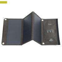 fonte do telefone venda por atacado-Dobrável Carregador Solar, 21 W Painel Solar Portátil, Dobrável com 2 Portas USB, fonte de Energia Ao Ar Livre para Telemóveis Tablets Camping Caminhadas