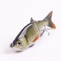 Wholesale Real Lure - 120mm 17g Real Lifelike 4 Sections Spoon Fishing Lure Swimbait Crankbait Hard Bait Fishhook Bass Fishing Tackle
