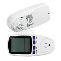 Wholesale Plug Power Monitor - Wholesale-New US Plug Power Meter Energy Watt Amps Volt Electricity Usage Monitor Analyzer