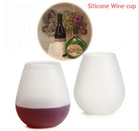 Wholesale New Design Unbreakable clear Wine Glass silicone wine glass silicone wine cup wine glasses DHL free ship