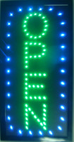 "LED Open Vertical LED Neon Sign 19x10"" Brighter with On off Animation + On off Switch +Chain"