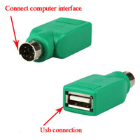 Wholesale usb male ps female for sale - PS2 PS Male to USB Female Mouse Passive Adapter USB Female to PS Male Adapter Converter PS2 Usb Connector DHL free