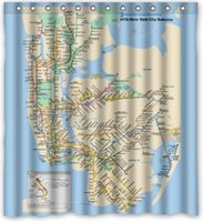 """Wholesale New York Shower - Custom New York Subway Map Classic Home Setting Bathroom Decoration Shower Curtain With High Quality Print 60"""" x 72"""" F605"""