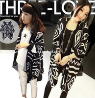 Wholesale Jacket Wholesaler Big Collars - Mother And Daughter Aztec Cardigan Big Kids Print floral loose Poncho children's spring knit jackets baby girl outwear