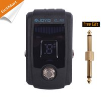 Wholesale Metal Bass Guitars - JOYO JT-305 Guitar Pedal Tuner for Guitar Bass Effect Pedal Bypass with Metal Casing Black Free connector
