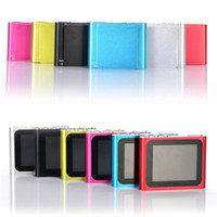 Wholesale Mp4 Player Sd Card Slot - New Clip MP3 MP4 Player with Micro SD Card Slot FM Radio+Voice Recorder 16 Languages 9 colors
