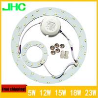 panel circular led 12w al por mayor-5W 12W 15W 18W 23W LED AC85-265V PANEL Circle Light SMD 5730 LED Panel de techo redondo la lámpara circular Comedor lámpara