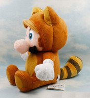 "Wholesale Tanooki Mario Toy - children plush dolls 7 ""Tanooki suit"" Mario's super Mario bros. stuffed toys"