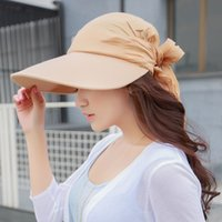 Wholesale Large Sun Shades Outdoor - Wholesale-Summer women's sun-shading hat anti-uv large wide brim summer hat big sun hat cap for women big heads outdoor free shipping