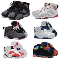Air retro 7 hommes femmes basket-ball chaussures lièvre UNC Pantone Pure Money Olympique Bordeaux GG Cardinal Raptor Français Bleu citron cigare sport Sneake