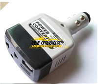 Wholesale Mini Converter Dc - Durable Car USB Charger Power Converters Inverter Adapter 12V 14V to 220V DC to AC Converter Plug