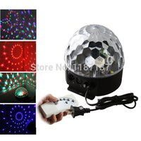 Wholesale Dmx Sd Card - Wholesale-Digital LED RGB Crystal Magic Ball Effect Light DMX Disco DJ Stage Lighting with remote controller+music player+SD Card Slot