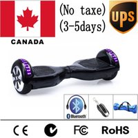 Wholesale Led Skateboard Wheels - (Canada STOCK) No Extra Taxe Bluetooth Electric Skateboard Hoverboard LED Self Balancing Scooter two 6.5 inch Wheel Scooter With bag and Key