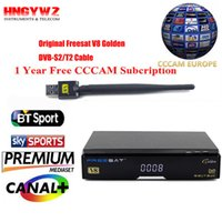 sat sat V8 Golden Satellite Receiver + 1 anno Europa cccam Cline DVB-S2 + T2 / C IPTV set top box Powervu Youtube freesat + usb wifi