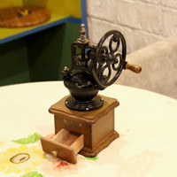 Wholesale Nylon Rollers - Vintage Style Manual Coffee Grinder Hand-crank Roller Drive, Ceramic Burr Core, Beech Wood Case Nylon Body FB