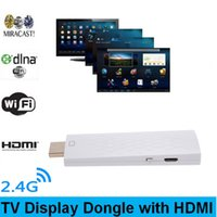 Wholesale Ipad Mini Tv Hdmi - Wireless Full 1080P HDMI TV Dongle Wi-Fi Miracast Airplay DLAN Mini PC Android TV Stick for iPad IOS Phone Phone V968