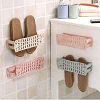Wholesale Hotel Hangers - Stick on Wall-mounted Paste shoe rack Home simple Shoes Storage rack Bathroom wall durable Shoes sticker hanger