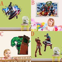 2015 Neue 3D The Avengers Wandsticker Kinder Dekorative Wandtattoo Cartoon Wallpaper Kids Party Dekoration Weihnachten Wand-Kunst-50 * 70cm