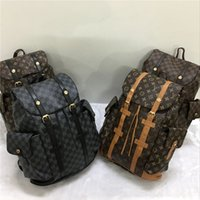 Wholesale Leather Backpacks For School - HOT NEW Men Women leather backpack Hit color feminine school bags for teenagers rucksack Leisure knapsack backpacks travel