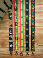 Wholesale bob strap - Wholesale -10pcs Cartoon Bob Marley Rasta Cell Phone Straps & Charms   neck Lanyard Key Chain 18""